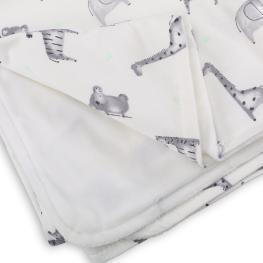 Двулицево бебешко одеяло - JUNGLE