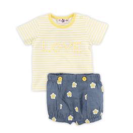Блузка с панталонки на цветя