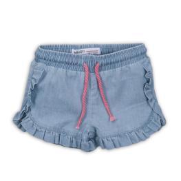 Дънкови панталонки с къдрички