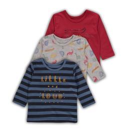 Комплект блузки с дълъг ръкав - 3 броя