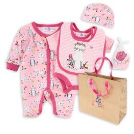 Бебешки комплект от пет части  Коте + подаръчна торбичка