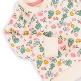 Ватирана суитчер блузка на цветя