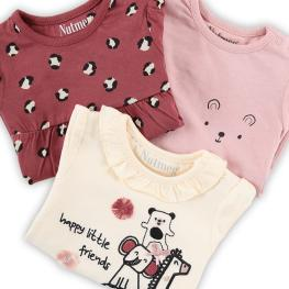 Комплект блузки Little friends - 3 броя