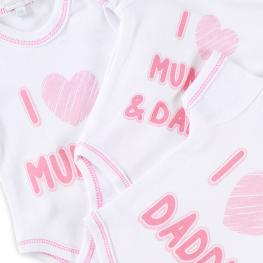 Комплект бодита I love Mummy & Daddy