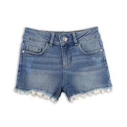 Детски дънкови панталонки с бродерии