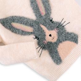 Детски пуловер -  Зайче