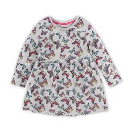 Детска трикотажна рокля - Пеперуди