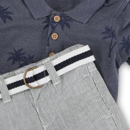 Памучна ризка с къси панталони