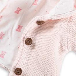 Бебешка жилетка с качулка