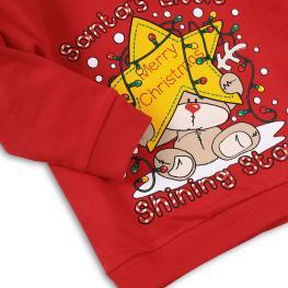 Коледна блузка - Santa's little star