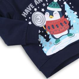 Коледна блузка с пингвин