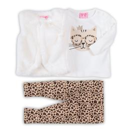 Блузка с клинче и пухен елек - Коте