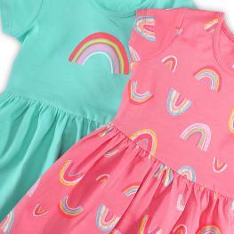 Трикотажни рокли- 2 броя