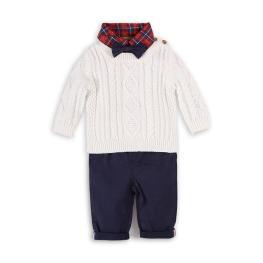 Боди ризка с панталон и пуловер