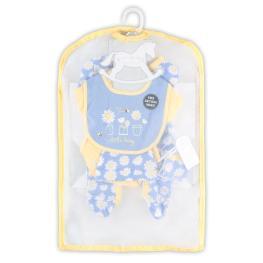 Бебешки комплект от пет части  Маргаритки + подаръчна торбичка