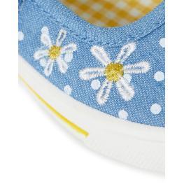 Обувки на точки и цветя