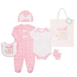 Бебешки комплект от 5 части с подаръчна торбичка