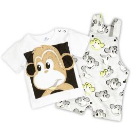 Гащеризонче с тениска - Маймунка