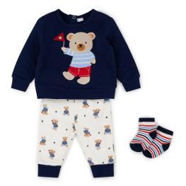 Ватирана блузка с панталонче и чорапки - Teddy