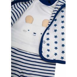 Бебешки комплект с ватирано яке