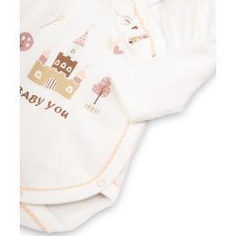 Боди блузка с къдрички - органичен памук