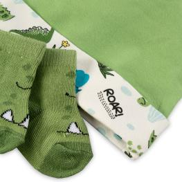 Шапка с чорапки - Дино
