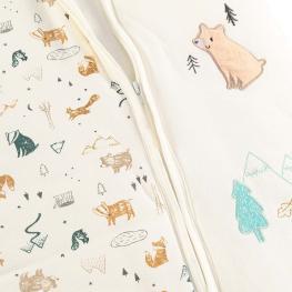 Бебешки спален чувал - Горски приятели (животни)