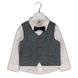 Детска риза с папионка и елек