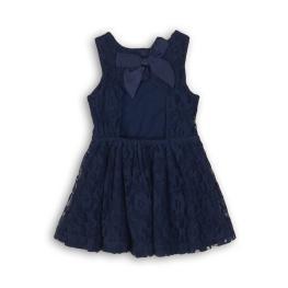 Детска рокля от дантела с гол гръб