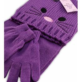 Шапка, шал и ръкавички