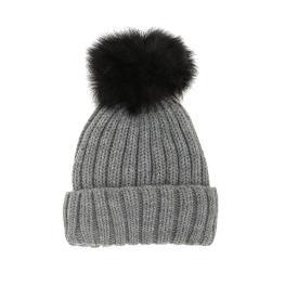 Красива зимна шапка с пухче