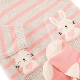 Детска рокля ''Зайчета'' с чорапогащник