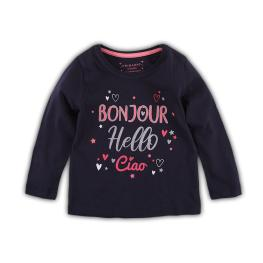 Детска блузка с цветни надписи