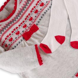 Плетена рокличка с чорапогащник