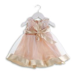 Красива бебешка официална рокля - Златната принцеса