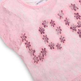 Блузка с потник LOVE 2 в 1 (3-8 год.)