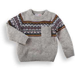 Спортен пуловер с джобче