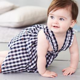 Карирана рокличка с гащички