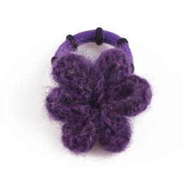 Ластик за коса с цвете-ръчна изработка